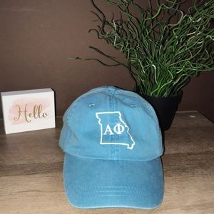 Accessories - Light Blue Alpha Phi Missouri AΦ Logo Hat